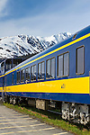 Alaska Railroad Seward train depot in Seward, Alaska.