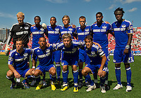05 June 2010: Starting eleven for the Kansas City Wizards during a game between the Kansas City Wizards and Toronto FC at BMO Field in Toronto..The game ended in a 0-0 draw.