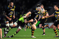 Paul Hill of Northampton Saints takes on the Leinster defence. European Rugby Champions Cup match, between Northampton Saints and Leinster Rugby on December 9, 2016 at Franklin's Gardens in Northampton, England. Photo by: Patrick Khachfe / JMP
