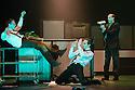 London, UK. 23.10.2013. Kristjan Ingimarsson / Neander present BLAM! at the Peacock Theatre. Picture shows: Lars Gregersen, Kristjan Ingimarsson and Janus Elsig. Photograph © Jane Hobson.