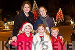 Orla O'Shea Susan Stevenson, Sarah Stevenson, Gavin O'sullivan and Jake Stevenson Ballyseedy traleeat the fireworks on Denny Street on Saturday night