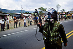 COLOMBIA - CAUCA - Peasants protest against government policies
