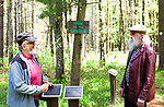 Litchfield, CT- 14 May 2017-051417CM01- Mendy Miltz, left, of Waterbury and Mal Berk of Torrington share a laugh at the White Memorial Conservation Center in Litchfield on Sunday. Chabad Lubavitch of Northwest Connecticut sponsored a community-wide celebration, which featured a kosher barbecue.  The event marked the observance of the Jewish holiday of Lag BaOmer, a tradition that is commemorated by large outdoor celebrations and which harbor spiritual significance.  Christopher Massa Republican-American