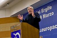 Roma, 29 Marzo 2015<br /> Convention di Forza Italia: Roma l'Italia e l'Europa che vogliamo. Antonio Tajani ,eurodeputato di Forza Italia,  vicepresidente del Parlamento europeo. <br /> Rome, March 29, 2015<br /> Convention  of Forza Italy: Rome the Italy and Europe that we want. Antonio Tajani, MEP Forza Italy, Vice President of the European Parliament.