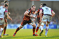 Kai Horstmann of Exeter Chiefs goes on the attack. European Rugby Champions Cup match, between Exeter Chiefs and the Ospreys on January 24, 2016 at Sandy Park in Exeter, England. Photo by: Patrick Khachfe / JMP
