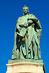 Statue of King Andras 2nd - H?s&ouml;k tere, ( Heroes Square ) Budapest Hungary