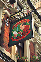 Sherlock Holmes Pub Sign - London, UK