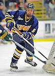 16 February 2008: Merrimack College Warriors' defenseman Chris Kane, a Junior from Irvine, CA, in action against the University of Vermont Catamounts at Gutterson Fieldhouse in Burlington, Vermont. The Catamounts defeated the Warriors 2-1 for their second win of the 2-game weekend series...Mandatory Photo Credit: Ed Wolfstein Photo