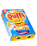 Box of Sugar Puffs Breakfast Cereal - Jan 2013.