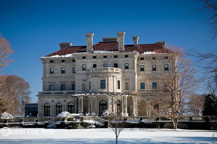 The Breakers mansion in winter,  Newport, RI, USA