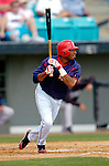 14 March 2006: Brandon Watson , outfielder for the Washington Nationals, at bat during a Spring Training game against the Florida Marlins. The Marlins defeated the Nationals 2-1 at Space Coast Stadium, in Viera, Florida...Mandatory Photo Credit: Ed Wolfstein..