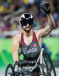 RIO DE JANEIRO - 15/9/2016:  Brent Lakatos competes in the men's 800m T53 final at the Olympic Stadium during the Rio 2016 Paralympic Games. (Photo by Dave Holland/Canadian Paralympic Committee).