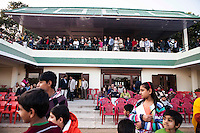 Spectators watch the game between the Royal Jaipur Polo Team and the Western Australia Polo Team for the Argyle Pink Diamond Cup, organised as part of the 2013 Oz Fest in the Rajasthan Polo Club grounds in Jaipur, Rajasthan, India on 10th January 2013. Photo by Suzanne Lee