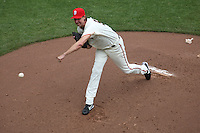 SAN FRANCISCO - JULY 5:  Randy Johnson #51 of the San Francisco Giants pitches against the Houston Astros during the game at AT&T Park on July 5, 2009 in San Francisco, California. Photo by Brad Mangin