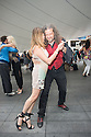 London, UK. 15.06.2014. London's Tango community assembled for Tango@Spitalfields Outdoor Milonga (Liverpool St), with music played by<br /> DJ Jalal Kadkani (London) as part of the London Tango Long Weekend, World Cup Edition (4th Edition). The weekend is organised by Hiba Faisal, and Rene Hellemons, of Tango Fever. Photograph &copy; Jane Hobson.