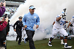 26 September 2015: UNC head coach Larry Fedora. The University of North Carolina Tar Heels hosted the University of Delaware Blue Hens at Kenan Memorial Stadium in Chapel Hill, North Carolina in a 2015 NCAA Division I College Football game. UNC won the game 41-14.