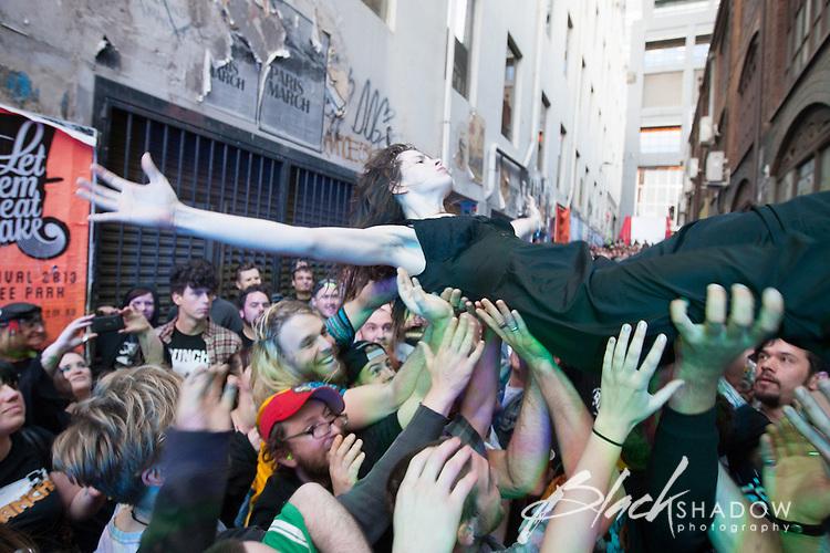 Bosnian Rainbows performing at Cherryfest, AC/DC Lane, Melbourne, 25 November 2012
