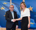 160310: Jean-Claude JUNCKER receives Silvana KOCH-MEHRIN, WIP-chair