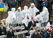 People wearing ponchos protect themselves from the rain prior to Donald J. Trump being sworn-in as the 45th President of the United States at the US Capitol in Washington, DC on Friday, January 20, 2017.<br /> Credit: Ron Sachs / CNP<br /> (RESTRICTION: NO New York or New Jersey Newspapers or newspapers within a 75 mile radius of New York City)