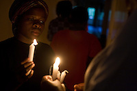 a candlelight  vigil held to mark World AIDS Day in Homa Bay, Kenya.
