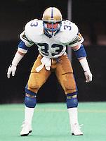 Pat Cantner Winnipeg Blue Bombers 1986. Copyright photograph Scott Grant