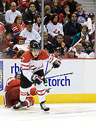 David Stich (Czech Republic - 7), Brett Sonne (Canada - 12) - Team Canada defeated the Czech Republic 8-1 on the evening of Friday, December 26, 2008, at Scotiabank Place in Kanata (Ottawa), Ontario during the 2009 World Juniors U20 Championship.