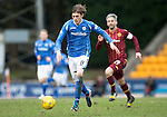 St Johnstone v Motherwell&hellip;20.02.16   SPFL   McDiarmid Park, Perth<br />Murray Davidson breaks from midfield<br />Picture by Graeme Hart.<br />Copyright Perthshire Picture Agency<br />Tel: 01738 623350  Mobile: 07990 594431