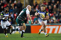 Nick Auterac of Bath Rugby goes on the attack. Aviva Premiership match, between Leicester Tigers and Bath Rugby on November 29, 2015 at Welford Road in Leicester, England. Photo by: Patrick Khachfe / Onside Images