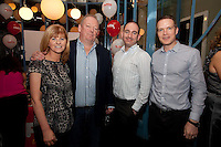 NO REPRO FEE. 8/11/2011. The Counter Celebrates its first birthday. Pictured at the Counter Burber Restaurant on Suffolk St Dublin are Val Crowley, Niall Fortune, Vince DArcy, Greg Malone  Picture James Horan /Collins