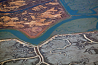 aerial photograph Bair Island, Redwood City, San Mateo county, California