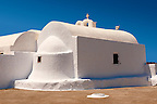 White Orthodox chapel of Oia, Santorini, Greece