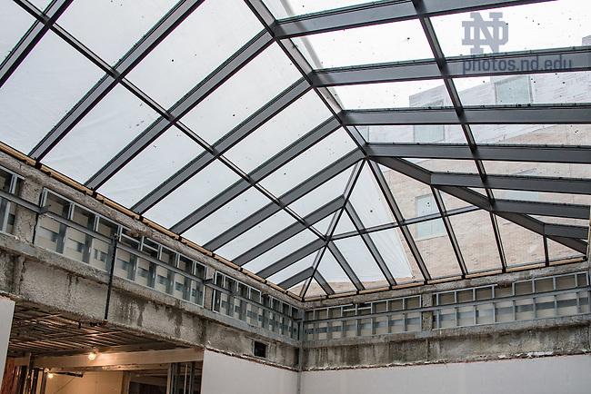 November 17, 2016; Jenkins Hall construction (Photo by Matt Cashore/University of Notre Dame)