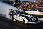 May 18, 2012; Topeka, KS, USA: NHRA funny car driver Tim Wilkerson during qualifying for the Summer Nationals at Heartland Park Topeka. Mandatory Credit: Mark J. Rebilas-