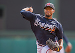 14 March 2016: Atlanta Braves pitcher Julio Teheran, on the mound during a Spring Training pre-season game against the Tampa Bay Rays at Champion Stadium in the ESPN Wide World of Sports Complex in Kissimmee, Florida. The Braves shut out the Rays 5-0 in Grapefruit League play. Mandatory Credit: Ed Wolfstein Photo *** RAW (NEF) Image File Available ***
