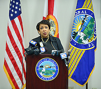 Attorney General Loretta E. Lynch visits the Doral Police Department