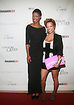 Model Diamonnique Lassiter Wearing Dress by Marco Hall and Brooks and Baily's Alicia Bailey attends COVERGIRL Queen Collection Presents The 2nd Annual Blackout Awards Held at Newark Hilton Gateway, NJ 6/12/11