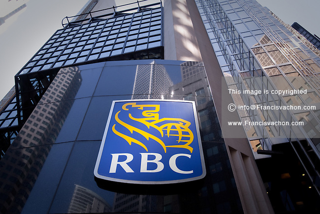 RBC logo is seen in Toronto financial district April 19, 2010. The Royal Bank of Canada (in French, Banque Royale du Canada, and commonly RBC in either language) is the largest financial institution in Canada, which is measured by deposits, revenues, and market capitalization.