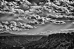 Black and white photo of overlook at White Rock, New Mexico.