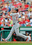 2 September 2012: St. Louis Cardinals first baseman Matt Carpenter in action against the Washington Nationals at Nationals Park in Washington, DC. The Nationals edged out the visiting Cardinals 4-3, capping their 4-game series with three wins. Mandatory Credit: Ed Wolfstein Photo