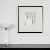 "Preston: Winter Trees, Digital Print, Image Dims. 13"" x 13"", Framed Dims. 27.5"" x 25.25"""