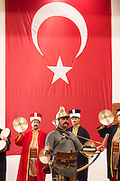 Mehter Takimi - Ottoman Military Band and Sultan's Janissary army corps soldiers at Military Museum at Harbiye, Istanbul, Turkey