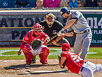 27 April 2014: San Diego Padres outfielder Xavier Nady at bat against the Washington Nationals at Nationals Park in Washington, DC. The Padres defeated the Nationals 4-2 to to split their 4-game series. Mandatory Credit: Ed Wolfstein Photo *** RAW (NEF) Image File Available ***