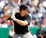21 May 2007: Toronto Blue Jays catcher Erik Kratz in action against the Baltimore Orioles at Doubleday Field during Baseball's Annual Hall of Fame Game in Cooperstown, NY. The Orioles defeated the Blue Jays 13-7 in front of a sellout crowd of 9,791 at the historical ballpark...Mandatory Credit: Ed Wolfstein Photo