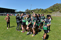 Action from the Rugby League College Finals - Trish Hina Cup Final Wainuiomata High School v St Catherines College  at Rugby League Park in Newtown, Wellington, New Zealand on Saturday 25 October 2014. <br /> Photo by Masanori Udagawa. <br /> www.photowellington.photoshelter.com.