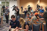 SAN ANTONIO, TX - APRIL 8, 2016: The introduction of new University of Texas at San Antonio Roadrunners Head Basketball Coach Steve Henson at the H-E-B University Center, Harris Room. (Photo by Jeff Huehn)