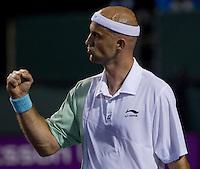 Ivan LJUBICIC (CRO) against Benjamin BECKER (GER) in the second round of the men's singles. Becker beat Ljubicic 4-6 0-1 retired..International Tennis - 2010 ATP World Tour - Sony Ericsson Open - Crandon Park Tennis Center - Key Biscayne - Miami - Florida - USA - Fri 26 Mar 2010..© Frey - Amn Images, Level 1, Barry House, 20-22 Worple Road, London, SW19 4DH, UK .Tel - +44 20 8947 0100.Fax -+44 20 8947 0117