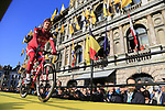 Alexander Kristoff (NOR) Team Katusha on stage at sign on before the 101st edition of the Tour of Flanders 2017 running 261km from Antwerp to Oudenaarde, Flanders, Belgium. 26th March 2017.<br /> Picture: Eoin Clarke | Cyclefile<br /> <br /> <br /> All photos usage must carry mandatory copyright credit (&copy; Cyclefile | Eoin Clarke)