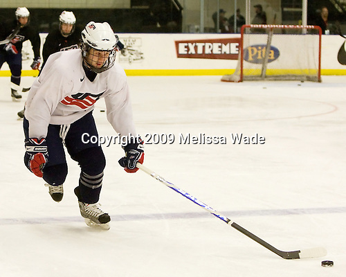 John Henrion (US - 16) - The US practiced the morning of Sunday, April 19, 2009, prior to their gold medal game against Russia in the 2009 World Under 18 Championship at the Urban Plains Center in Fargo, North Dakota.