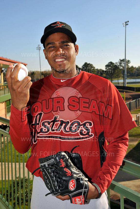 Feb 25, 2010; Kissimmee, FL, USA; The Houston Astros pitcher Alberto Arias (50) during photoday at Osceola County Stadium. Mandatory Credit: Tomasso De Rosa/ Four Seam Images