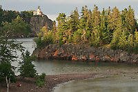 Split Rock Lighthouse on Lake Superior at Split Rock Lighthouse State Park near Duluth Minnesota.